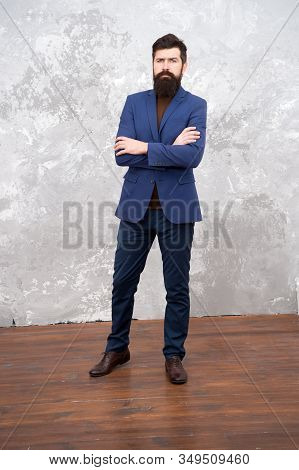 Formal Outfit. Take Good Care Of Suit. Elegancy And Male Style. Businessman Or Host Fashionable Outf