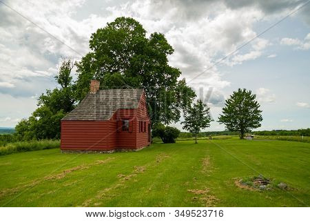 John Neilson Farmhouse In Saratoga National Historical Park, Saratoga County, Upstate New York, Usa.