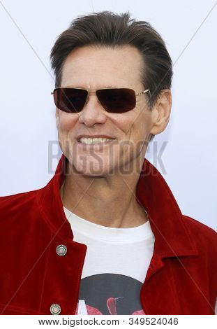 Jim Carrey at the Los Angeles premiere of 'Sonic the Hedgehog' held at Paramount Theatre in Los Angeles, USA on January 25, 2020