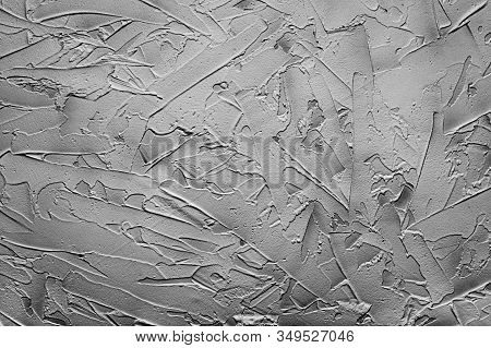 Beautiful Abstract Grunge Decorative Dark Stucco Wall Background. Monochrome Abstract Background. Cl