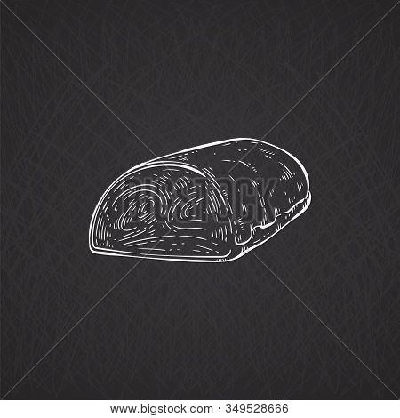 Hand Drawn Pork Tenderloin Or Beef Fillet.