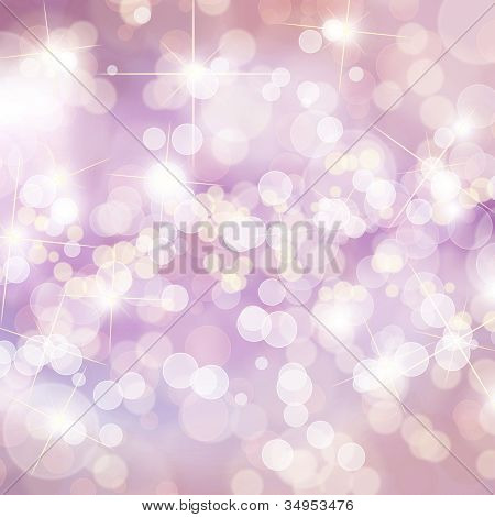 Colorful defocused lights background with copy space poster
