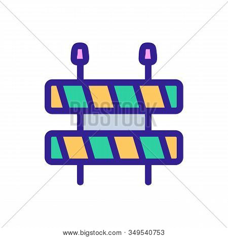 Roadworks Icon Vector. Thin Line Sign. Isolated Contour Symbol Illustration