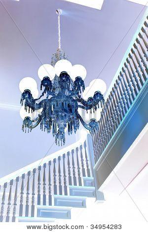 elegant blue chandelier