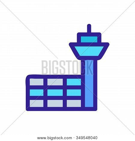 Airport Icon Vector. Thin Line Sign. Isolated Contour Symbol Illustration