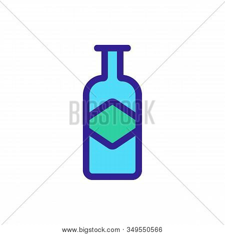 Whisky Icon Vector. Thin Line Sign. Isolated Contour Symbol Illustration