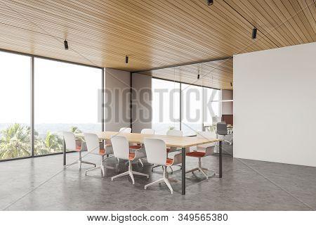 Panoramic White Meeting Room Corner