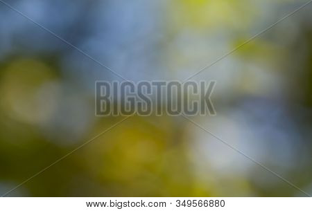 Bokeh Background. Blurry Abstract Yellow And Blue Colors. Colorful Abstract Background. Background T
