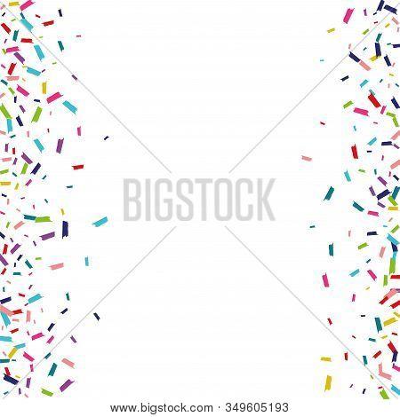 Rainbow Fun Splash Background. Round Texture. Shine Fun Background. Color Carnival Texture.