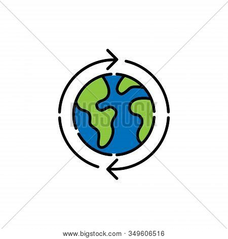 Globe icon. Globe vector. Globe icon vector. Globe logo. Globe symbol. Globe web icon. World vector. Globe icon isolated flat on white background. World globe vector icon modern and simple flat symbol for website, mobile, logo, app, UI.