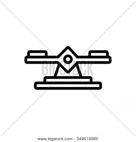Black Line Icon For Balance Integrity Scale Judgment Weight Equality Measure Equilibrium