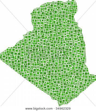 Map of Algeria - Africa -