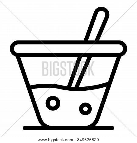 Soda Glass Icon. Outline Soda Glass Vector Icon For Web Design Isolated On White Background