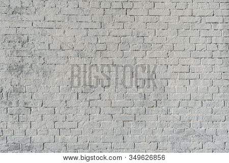 White Grunge Brick Texture For Your Background .