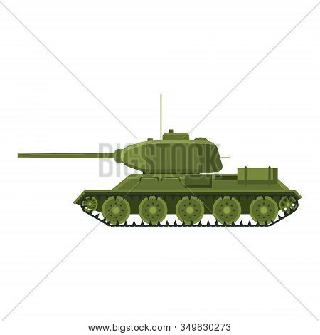 Tank Soviet World War 2 T34 Medium Tank. Military Army Machine War, Weapon, Battle Symbol Silhouette