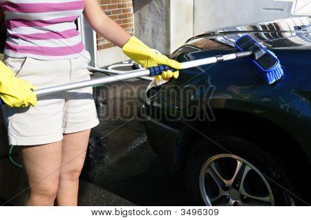 Brushing A Car