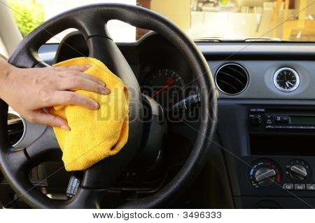 Polishing Steering Wheel