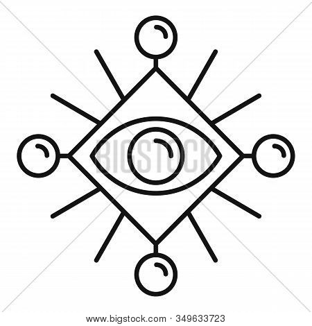 Ancient Eye Mystery Icon. Outline Ancient Eye Mystery Vector Icon For Web Design Isolated On White B