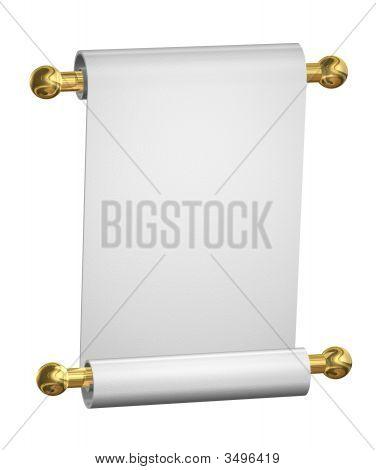 White Paper Scroll