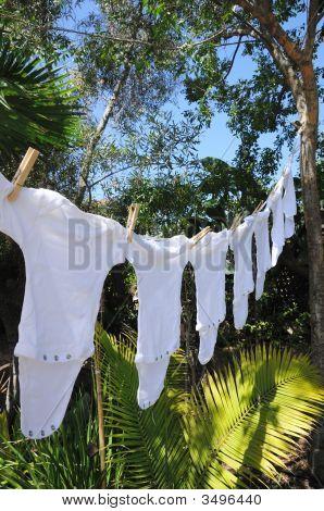 Onesies On Clothesline