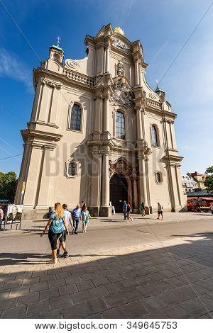 Munich, Germany - Sept 6, 2018: Heiliggeistkirche, Heilig Geist Kirche (church Of The Holy Spirit) I
