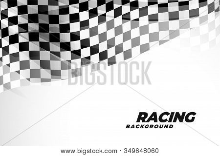 Checkred Flad Background For Sports And Racing