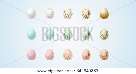 Easter Egg Bright Modern Painted Luxury Egg For Easter Set Of Light Elegant Colored Egg With Differe