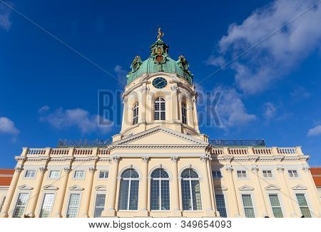 The Facade Of Charlottenburg Palace In Berlin, Germany.