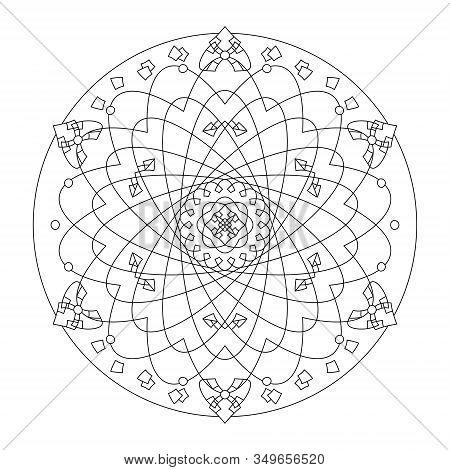 Mandala. Rosette Pattern. Abstract. Decorative Element . Art Therapy.