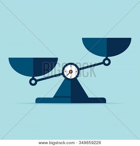 Scales Icon In Flat Style. Libra Symbol, Balance Sign. Vector Design Element For You Project On Colo