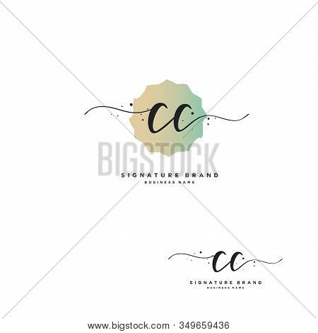 C Cc Initial Letter Handwriting And  Signature Logo. A Concept Handwriting Initial Logo With Templat