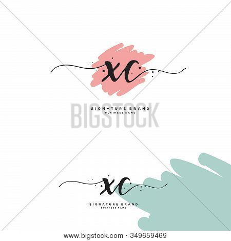 X C Xc Initial Letter Handwriting And  Signature Logo. A Concept Handwriting Initial Logo With Templ