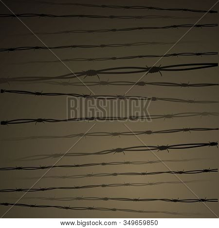 Wire Barb Vector Background Illustration.