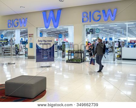 Canberra, Australia - Sep 8, 2018: Entrance To The Big W Department Store In The Canberra Centre - O