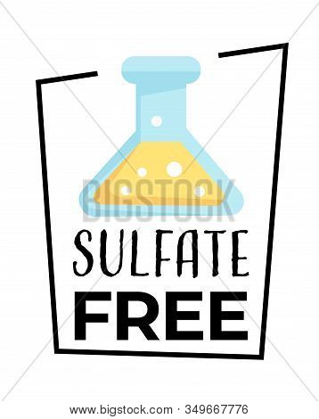 Product Label, Sulfate Free Isolated Icon, Chemical Test Tube