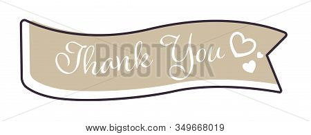 Ribbon Or Banner, Thank You Sign, Greeting Card Decor