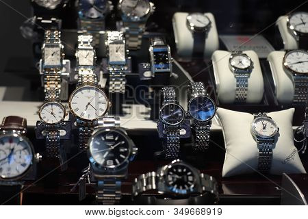 Haarlem, The Netherlands - October 6th 2018:longines Watches In A Shop Window. Longines Is A Swiss L