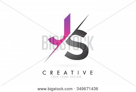Js J S Letter Logo With Color Block Design And Creative Cut. Creative Logo Design.