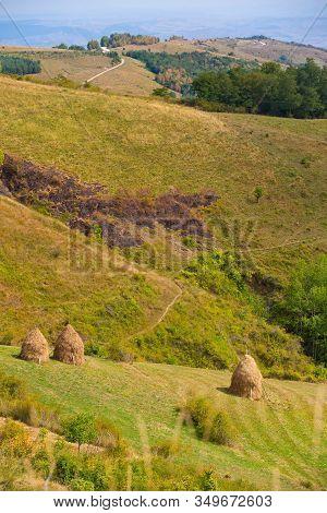 Rural Summer Landscape In A Gorgeous Transylvania