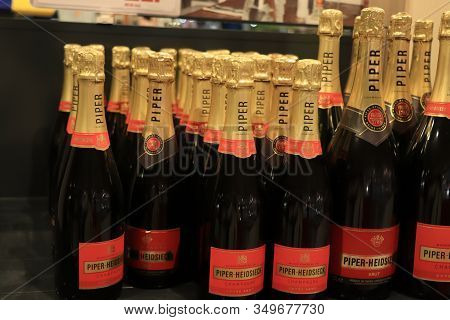Beverwijk, The Netherlands, December 15th 2018: Piper Heidsieck Champagne In A Liquor Store.piper He