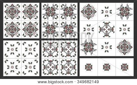 Pattern Hearts And Spirals Abstrait. Decorative Element.  This Pattern Can Be Used For Wallpaper, Ti