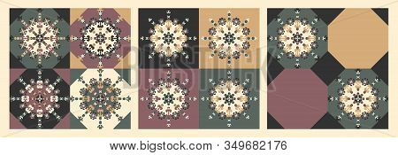 Pattern Vintage Abstrait. Decorative Element. Vector. This Pattern Can Be Used For Wallpaper, Tile,