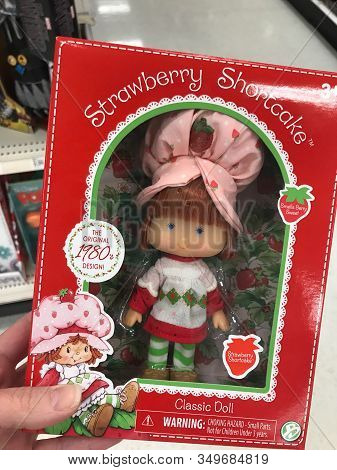 Edison, New Jersey / Usa - June 22, 2018: A Strawberry Shortcake Doll, Back From The 1980s, On Sale