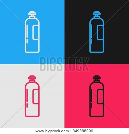 Color Line Industrial Gas Cylinder Tank For All Inert And Mixed Inert Gases Icon Isolated On Color B