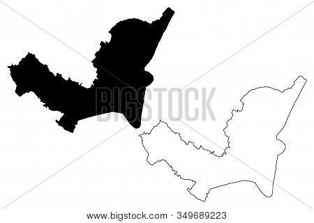 Sarajevo City (bosnia And Herzegovina, Bosnia-herzegovina) Map Vector Illustration, Scribble Sketch