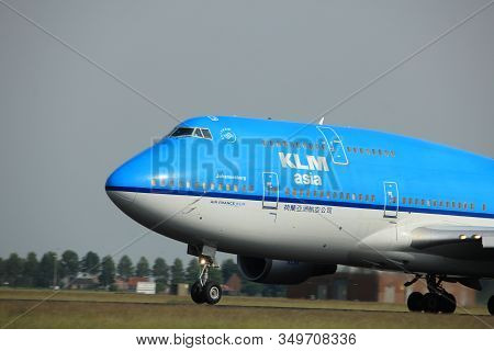 Amsterdam, The Netherlands  -  June 2nd, 2017: Ph-bfy Klm Royal Dutch Airlines Boeing 747-406 Taking