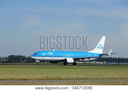 Amsterdam, The Netherlands  - August, 18th 2016: Ph-bxh Klm Royal Dutch Airlines Boeing 737, Taking