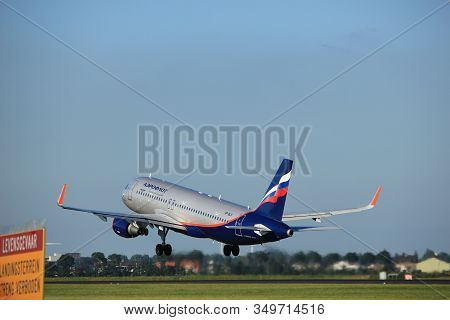 Amsterdam, The Netherlands  - August, 18th 2016: Vp-blr Aeroflot - Russian Airlines Airbus A320-214,