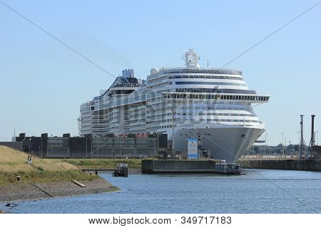 Ijmuiden, The Netherlands - September 10th, 2016: Msc Splendida A Cruise Ship Owned And Operated By