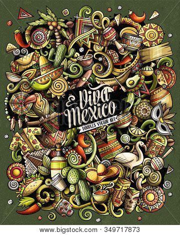Cartoon Vector Doodles Latin America Funny Illustration